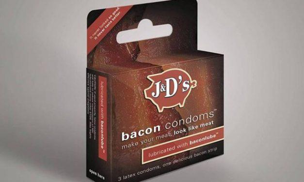 Condones con sabor a bacon