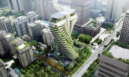 Un edificio de Taiwán se come la contaminación
