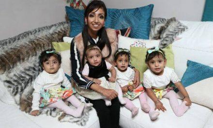 17 abortos tuvo una mujer que no podía convertirse en madre. Ahora tiene 4 hijos que los tuvo en 9 meses