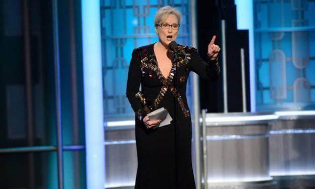 Meryl Streep arremete contra Trump y se suman a ella más actores