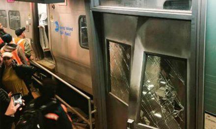 Descarrila un tren en Brooklyn con 76 heridos