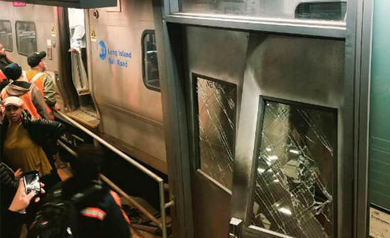 Descarrila un tren en Brooklyn con 76 heridos
