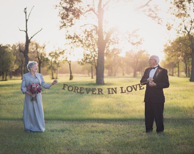 Esperaron 70 años para hacerse las fotos de su boda