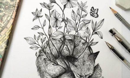 Alfred Basha dibuja a mano la belleza de la naturaleza