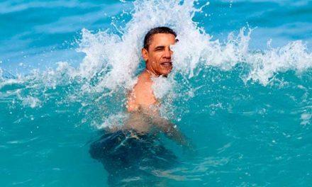 Obama luce radiante durante sus vacaciones