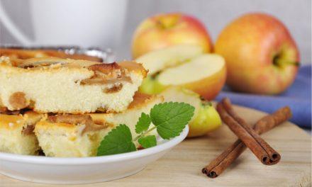 Manzana y canela unidos en un rico bizcocho
