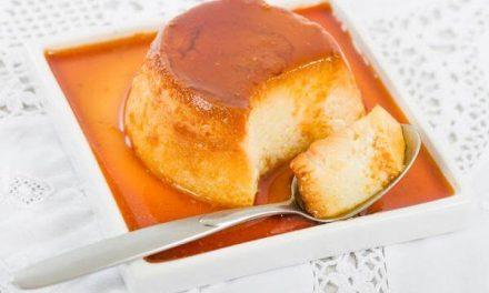 Flan de manzana exquisito