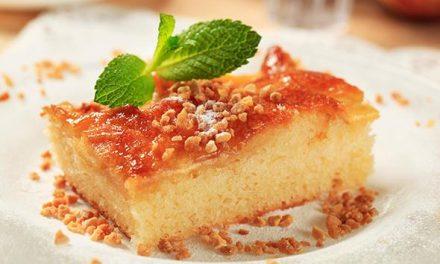 Bizcocho – flan de manzana sin gluten