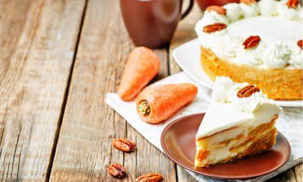 Riquísimo pastel de zanahoria relleno de cheesecake
