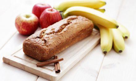 Bizcocho vegano de plátano y manzana