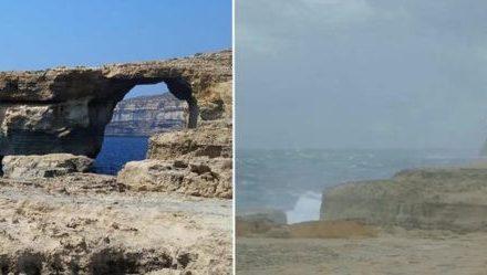 La Ventana Azul de Malta se desploma por el oleaje