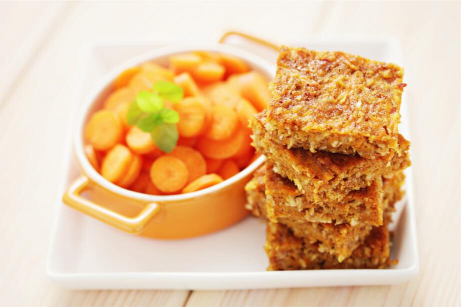 Exquisito bizcocho de zanahoria y coco