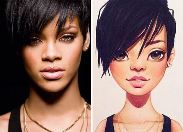 Sorprendentes dibujos de celebridades