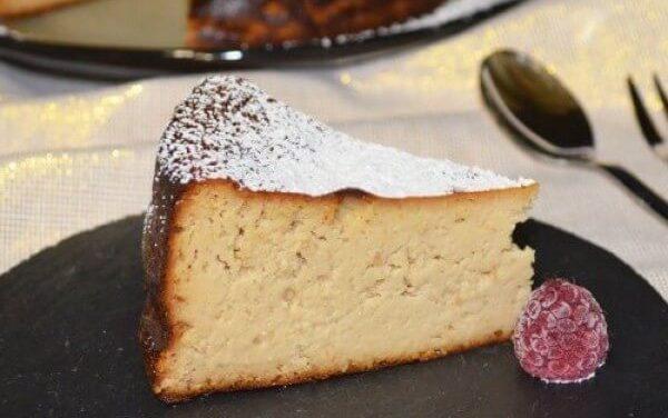 Deliciosa tarta de queso y turrón