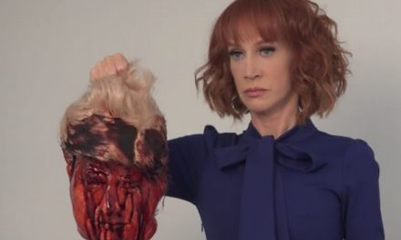 La polémica fotografia de Kathy Griffin y el presidente Trump