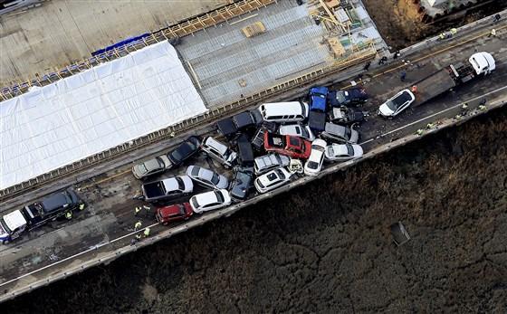 At least 51 injured in 69-vehicle highway pileup in Virginia