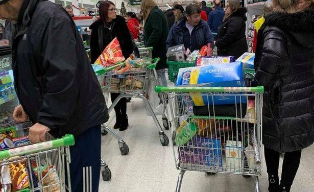 Tears in Tesco as last-minute Christmas food shop chaos sweeps UK supermarkets